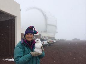 Jane atop Maunakea