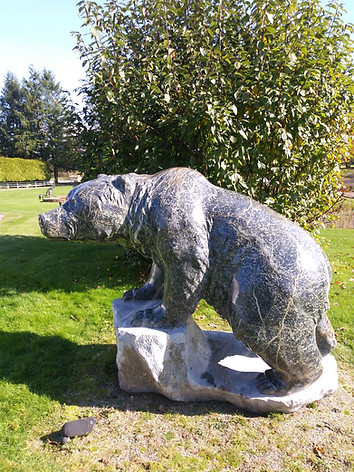 Cleaned and sealed bear statue by Cathy Jenkins-Vancouver artist