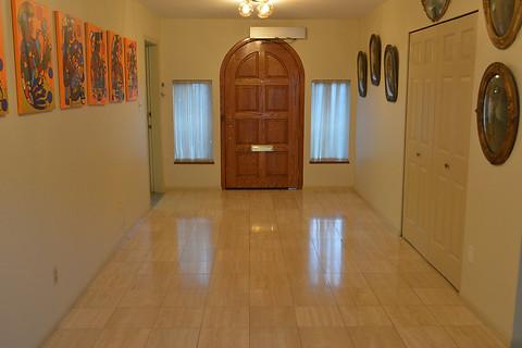 Polished and resealed Limestone floor