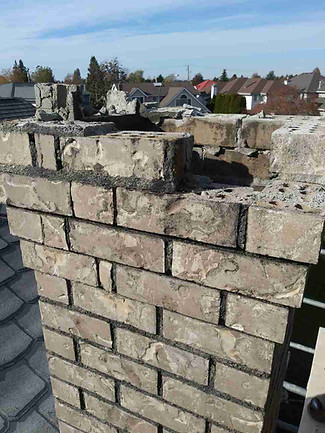 Ladner chimney rebuild