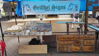 Griffdel Signs Northallerton Market Stall