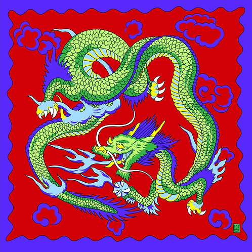 "Art Picture Silks - Imperial Dragon 36""  (Red)"