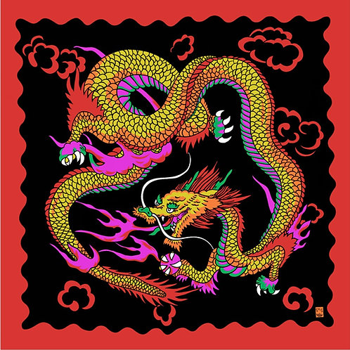 "Art Picture Silks - Imperial Dragon 36"" x 36"""