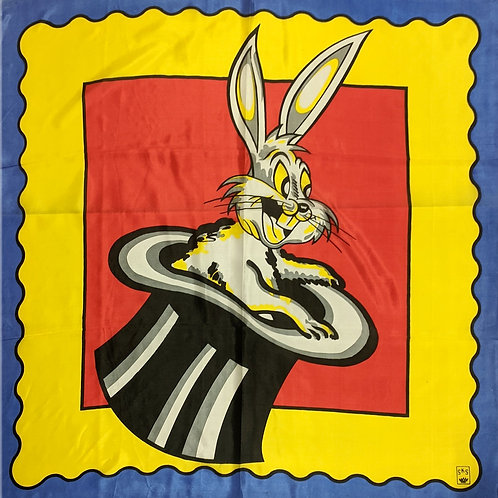 RABBIT IN HAT - Giant Silk 6 Foot ( 6' x 6')