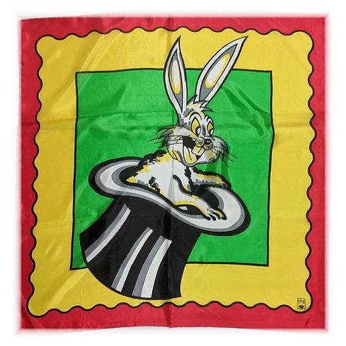 "Art Picture Silks - Rabbit in Hat 27"" x 27"""