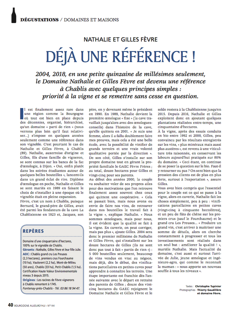 Fevre - Article Presse