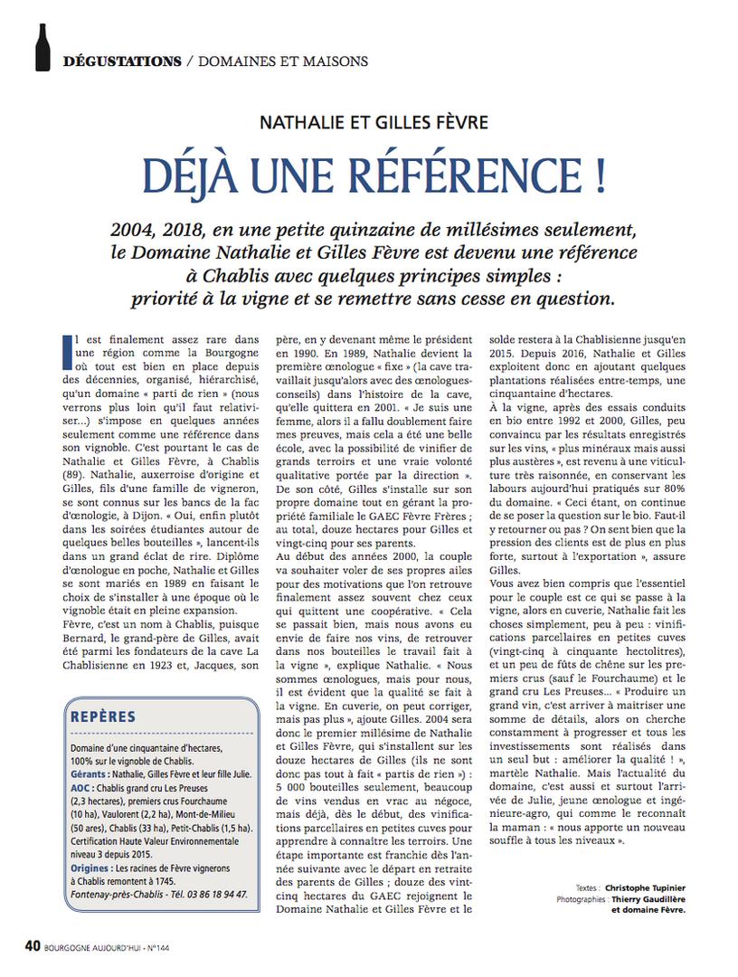 Fevre - Article Presse