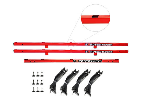 NO DRILL Red TENT CLICK-IN Roof Racks 2007-2018 Jeep Wrangler JK (2dr) Hard Top