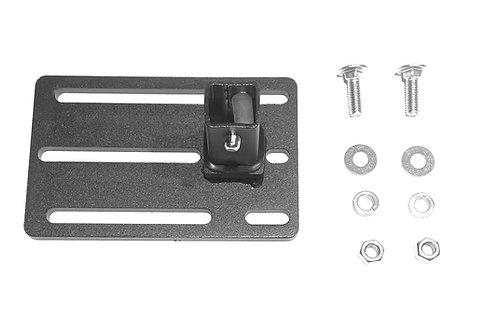 "EXR B23 Click-In Tent Bracket, 3.8""x6"", 5/16"" bolt holes - SITS PARALLEL"