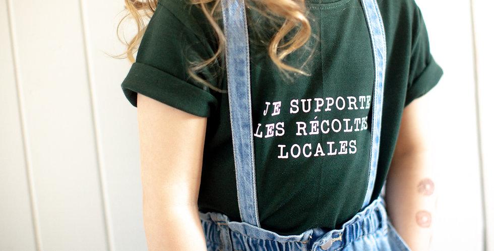Je supporte les récoltes locales