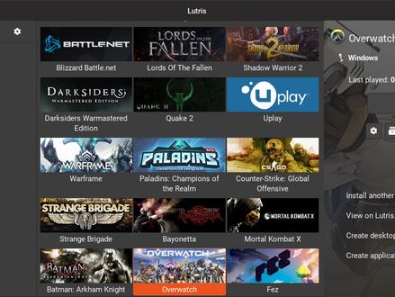 Lutris – легкая установка игр в Linux