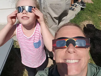 S.T.E.A.M. Leader Jeff Gonyea and his daughter, Zoey
