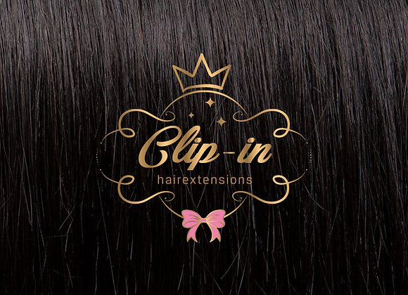 Off Black clip-in extensions #1B - 270 gram - 60cm