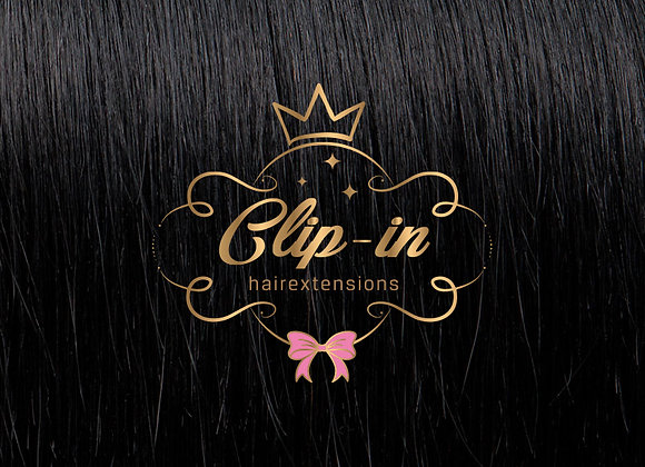 Jet Black clip-in extensions #1 - 270 gram - 60cm