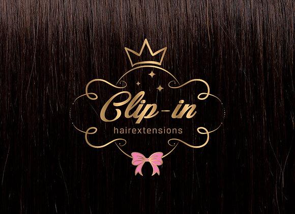 Dark Brown clip-in extensions #2 - 270 gram - 60cm