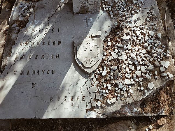 Teraz tak wygląda pomnik na cmentarzu. N