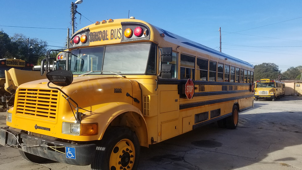2002 inter blue bird dt466 2 ac units florida bus no rust