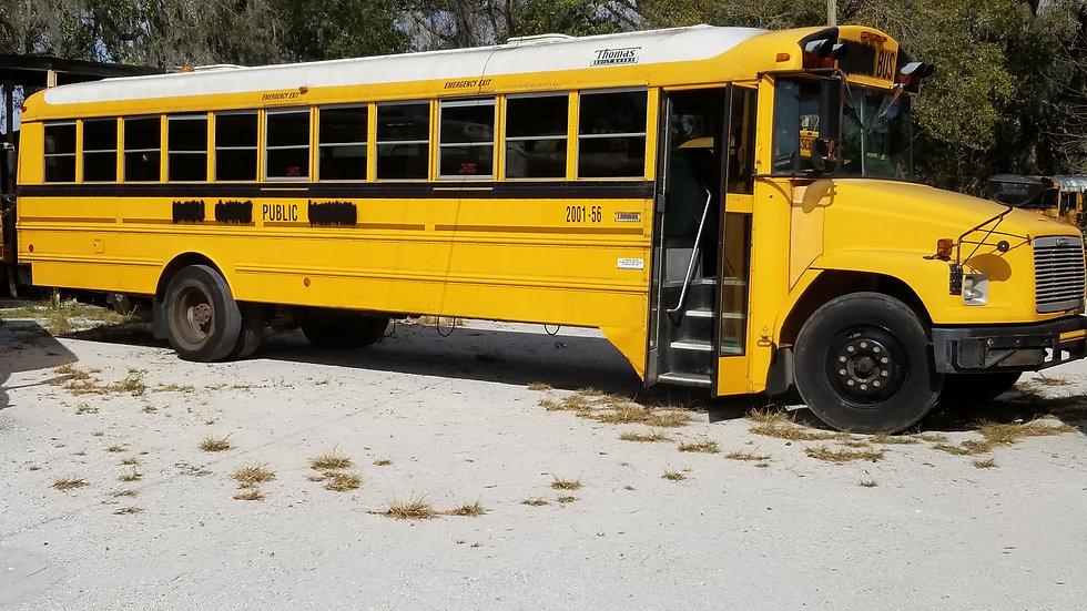 2001 freightliner cummins runs great auto 72 pass clean south bus