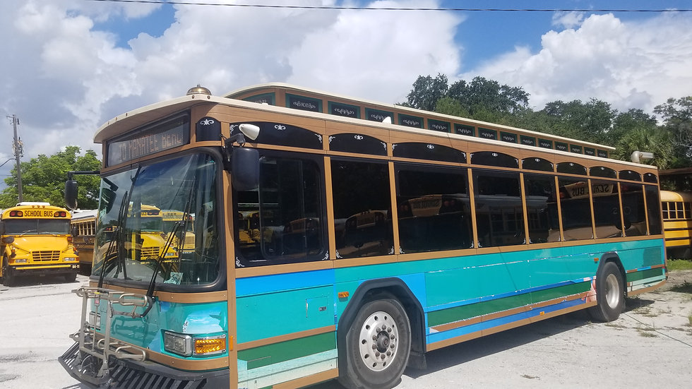 2011 gillig trolley bus runs excellent florida clean cold ac
