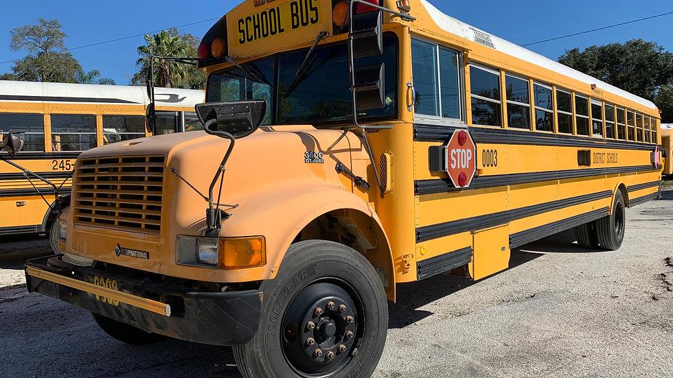 2000 inter dt466 large transmission runs good 77 pass florida bus