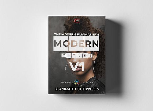 MODERN TITLES V1 for Davinci Resolve 16