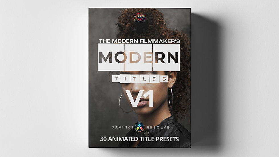 MODERN TITLES V1 for Davinci Resolve