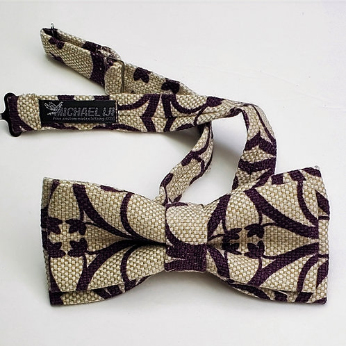 Bow Tie - Brown Taupe Abstract