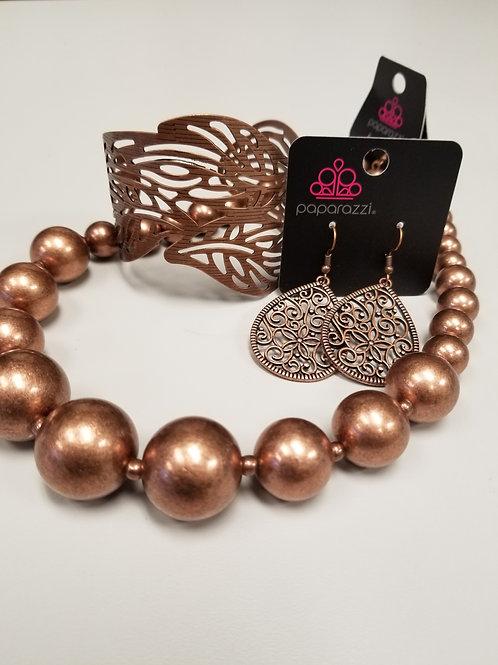 Ladies Fashion Set in Copper