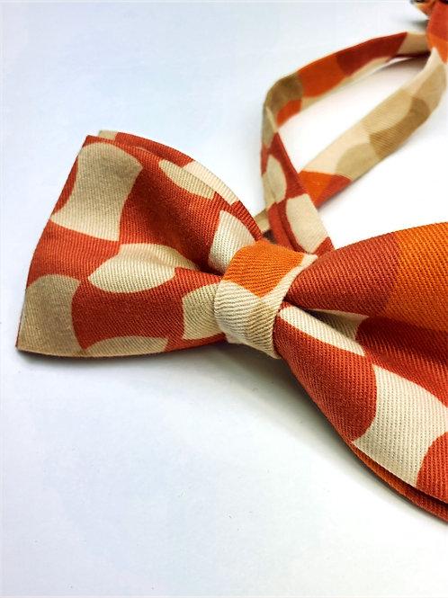 Bow tie - Orange Abstract