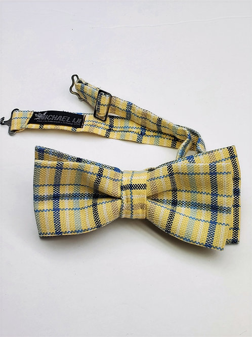 Bow tie - Yellow Blue Plaid