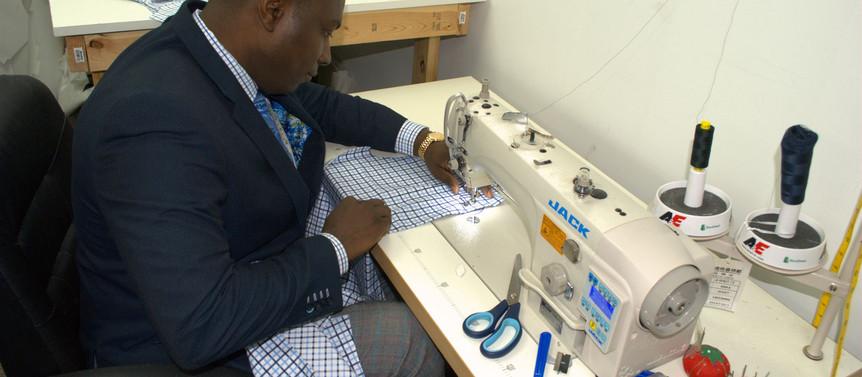Designer makes custom garments at Cary studio