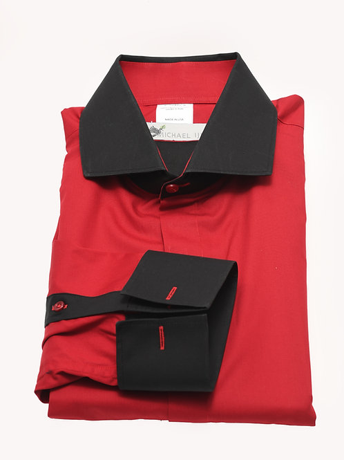 Red Black Collar Cuff