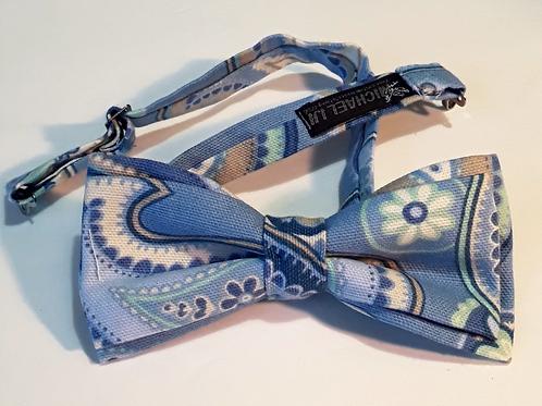 Bow Tie - Blue Paisley
