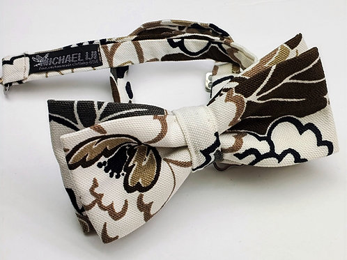 Bow Tie - Brown White Tapestry