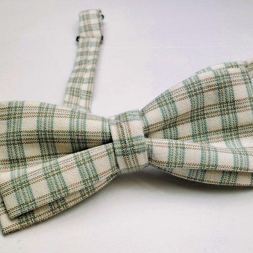 Bow tie - Green White Plaid
