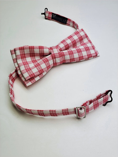 Bow tie - Red White Gingham