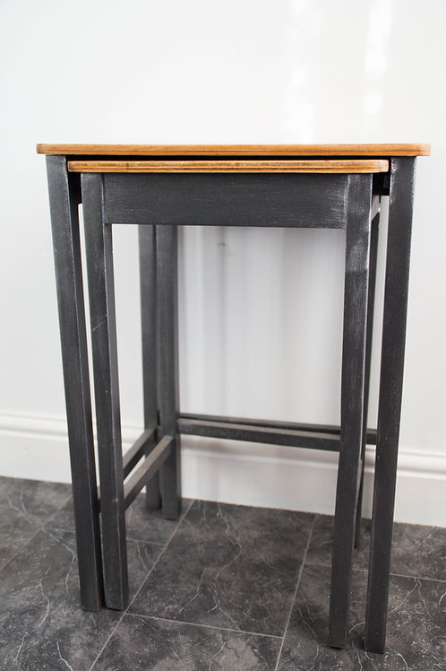 Set of nesting tables - Industrial style/chic - Gun metal grey