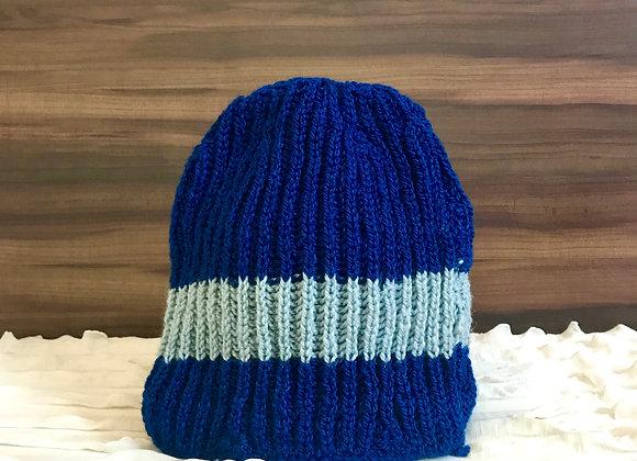 Navy Blue Classic Hand-knit Beanie