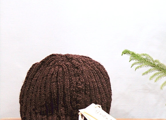 Brown Classic Hand-knit Beanie