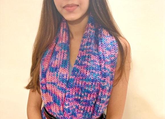Mermaid Hand knit Infinity Scarf