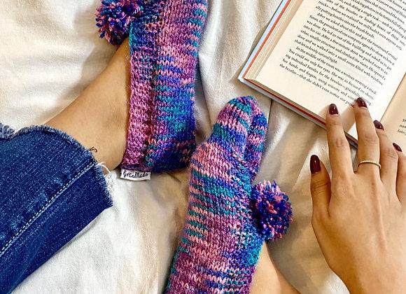 Mermaid Hand-knit Socks
