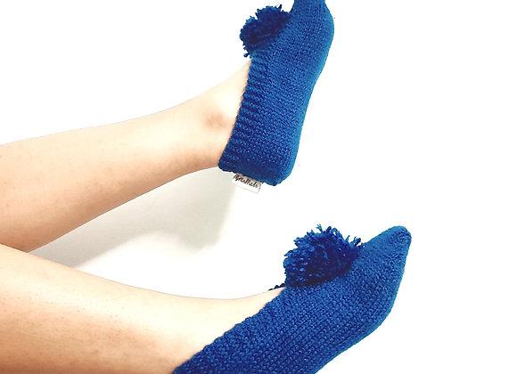Navy Blue Hand-knit Socks