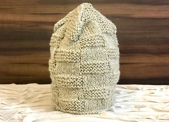 Beige Brick Hand-Knit Beanie