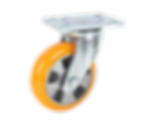 517a橘色PU活動輪