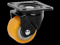 618a橘色PU活動輪