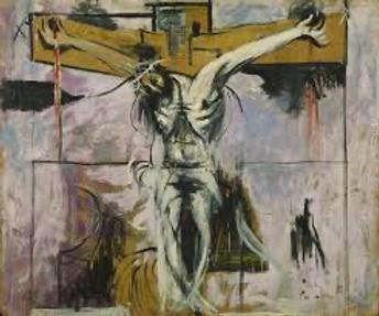 Jesus on the Cross - beautiful art by ?.