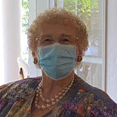 Barbara plays it smart and safe with mask.