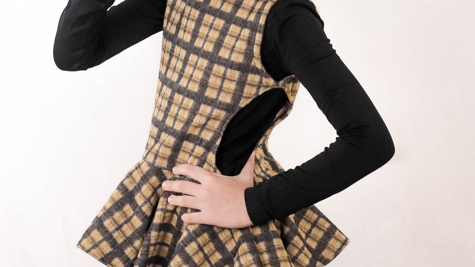Flannel Layered Dress