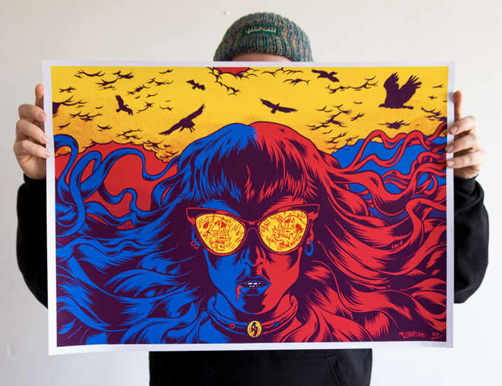 Screen print - Tunnelbirds x Rob Worst