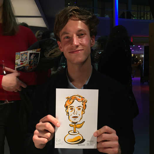 Live portraits at Van Gogh Museum, Amsterdam